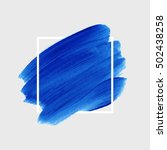 logo brush painted watercolor... | Shutterstock .eps vector #502438258