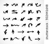 hand drawn arrows  vector set | Shutterstock .eps vector #502441648