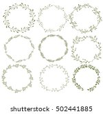 beautiful vector floral pattern ... | Shutterstock .eps vector #502441885