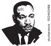 martin luther king. black and... | Shutterstock .eps vector #502442488