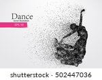 silhouette of a dancing girl of ... | Shutterstock .eps vector #502447036