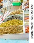 stall of sicilian seasoned...   Shutterstock . vector #502451122