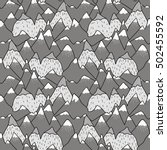 seamless pattern of hills and...