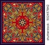 design for square pocket  shawl ... | Shutterstock .eps vector #502457842