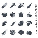vegetables set icon food... | Shutterstock .eps vector #502460305