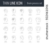 icons set of brain process.... | Shutterstock .eps vector #502461046