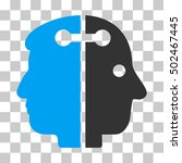 blue and gray dual head... | Shutterstock .eps vector #502467445