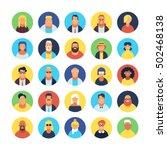 set of avatar flat design icons   Shutterstock .eps vector #502468138