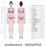 woman body measurement chart.... | Shutterstock .eps vector #502469932