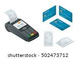 pos terminal  debit credit card ... | Shutterstock .eps vector #502473712