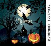 halloween. halloween... | Shutterstock . vector #502474552