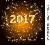 gold glitter happy new year... | Shutterstock .eps vector #502477078