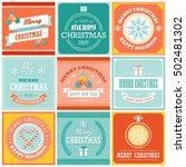 set of flat design merry... | Shutterstock .eps vector #502481302