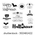 halloween party invitation... | Shutterstock .eps vector #502481422