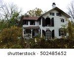 Abandoned Burned Historic Hous...