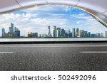 asphalt roads and beautiful... | Shutterstock . vector #502492096