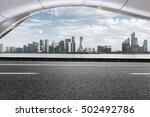 asphalt roads and beautiful... | Shutterstock . vector #502492786