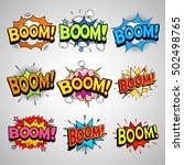 comic book boom speech bubble... | Shutterstock .eps vector #502498765