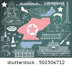 travel to north korea  if you... | Shutterstock .eps vector #502506712