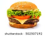 perfect hamburger classic...   Shutterstock . vector #502507192