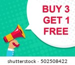 flat illustration of megaphone... | Shutterstock .eps vector #502508422