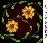 yellow flowers | Shutterstock .eps vector #50251039