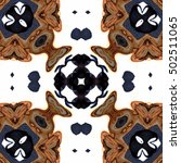 symmetrical melting colorful...   Shutterstock . vector #502511065