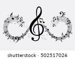 music note background | Shutterstock .eps vector #502517026