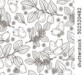 floral seamless pattern. exotic ... | Shutterstock .eps vector #502520482