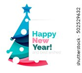 happy new year and chrismas... | Shutterstock .eps vector #502529632