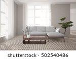 white interior design of living ...   Shutterstock . vector #502540486