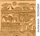 beautiful african carpet.... | Shutterstock .eps vector #502542865