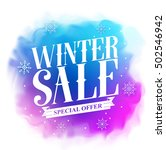 winter sale special offer text... | Shutterstock .eps vector #502546942
