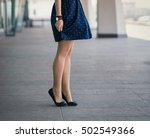 beautiful women's legs in shoes. | Shutterstock . vector #502549366
