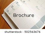 brochure text concept write on... | Shutterstock . vector #502563676