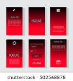 mobile interface ui neon color...