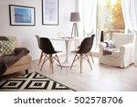 interior of beautiful modern... | Shutterstock . vector #502578706