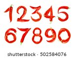 Numbers Made Of Chili Peppers...