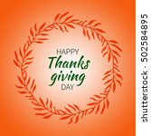 thanksgiving round label with... | Shutterstock . vector #502584895