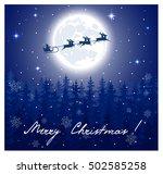 fantastic winter landscape on... | Shutterstock .eps vector #502585258