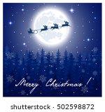 fantastic winter landscape on... | Shutterstock . vector #502598872