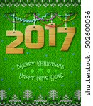new year 2016 of wood as...   Shutterstock .eps vector #502600036