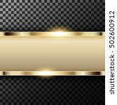 metallic gold banner with text... | Shutterstock .eps vector #502600912