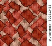 knitting seamless scrappy... | Shutterstock .eps vector #502613488