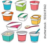 vector set of yogurt | Shutterstock .eps vector #502619362
