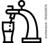 beer tap icon | Shutterstock .eps vector #502620076