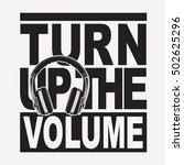 music headphone volume... | Shutterstock .eps vector #502625296