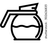 coffee pot icon | Shutterstock .eps vector #502626835