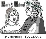 laura and petrarch. laura was... | Shutterstock .eps vector #502627078