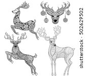 christmas reindeer set in... | Shutterstock .eps vector #502629502